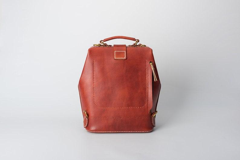 Rucksack Doctor Bag-Leather Backpack,Hand Stitching Leather Backpack Women Leather Backpack Men Large Backpack
