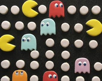 Pac Man Decorated Cookies - One Dozen