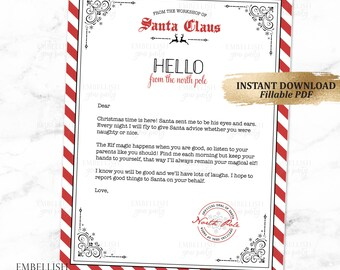 christmas elf first time welcome letter elf 1st time arrival letter elf goodbye letter holiday elf printables fillable pdf