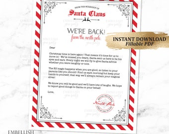 christmas elf arrival letter elves welcome letter elf goodbye letter elves goodbye letter elf printables