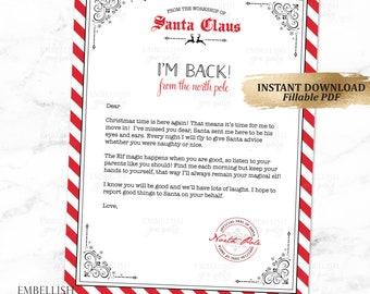 Christmas Elf Arrival Letter Elves Welcome Letter Elf Etsy