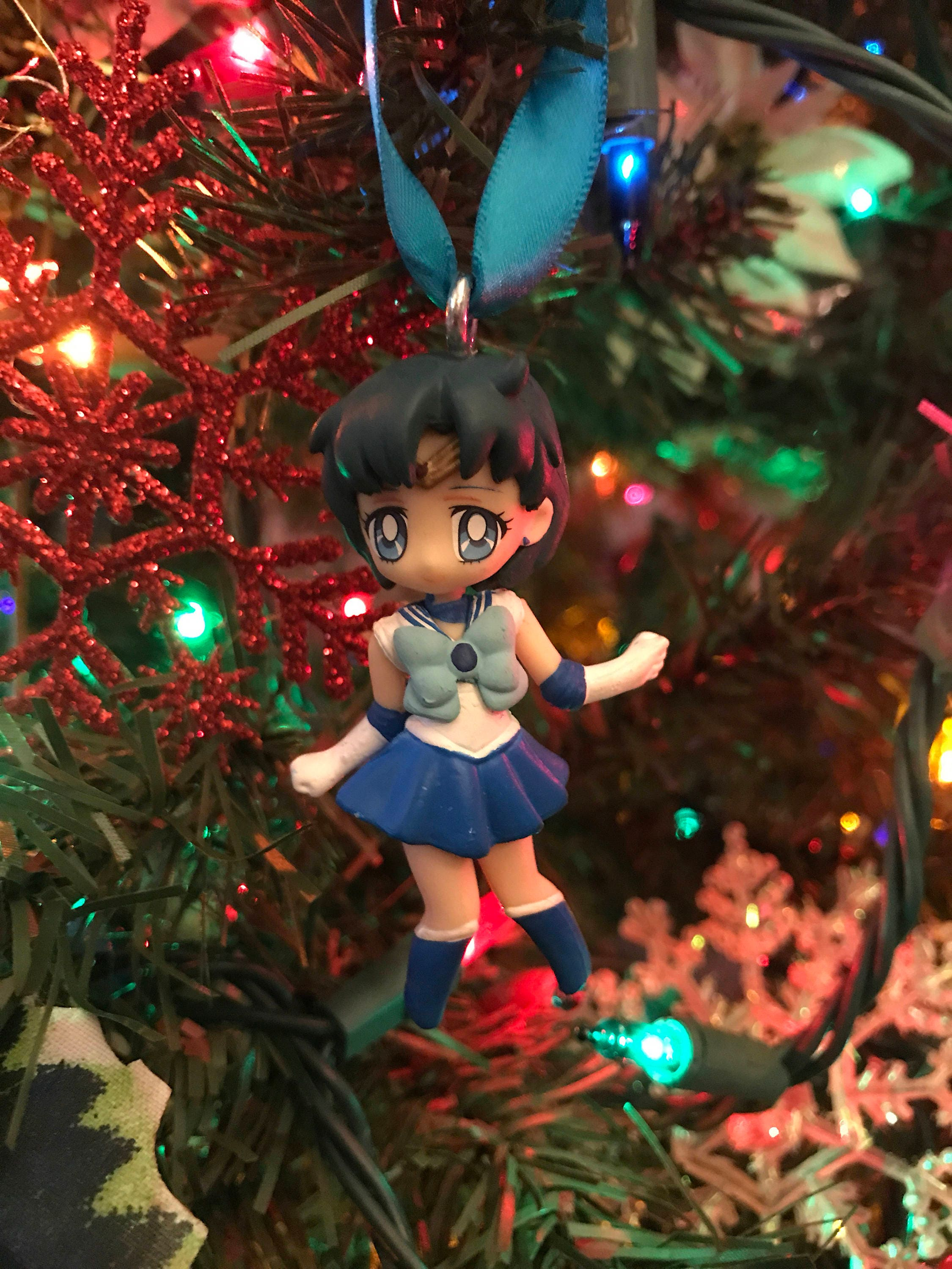 Sailor Mercury from Sailor Moon Holiday Christmas Ornament | Etsy