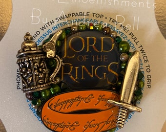 My Precious Ring Bling Phone Grip With Swappable Top