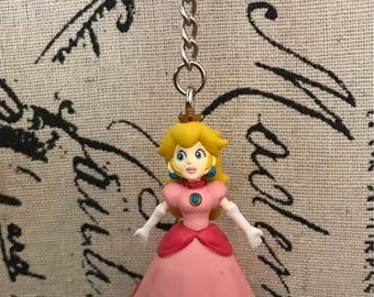 Princess Peach from Super Mario Keychain