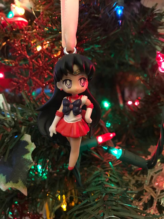Sailor Moon Christmas Sweater.Sailor Mars From Sailor Moon Holiday Christmas Ornament