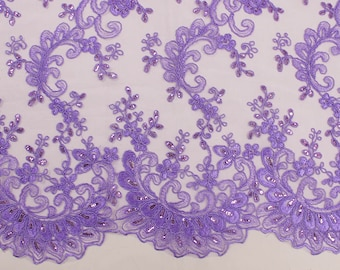 Half Yard or Wholesale Athena SILVER Sequins on Mesh Fabric by the Yard SKU 3062