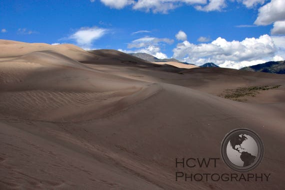 matted digital photographic print (dunes)