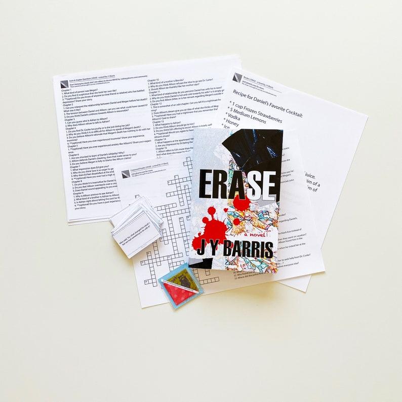 Erase by J Y Barris  Paperback Novel  Psychological Thriller image 0