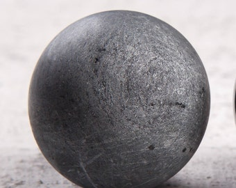 Soapstone Sphere, UnPolished Unic Karelian Mineral, EMF protection, Reiki Practice, Root Chakra, Gift For Her/Him