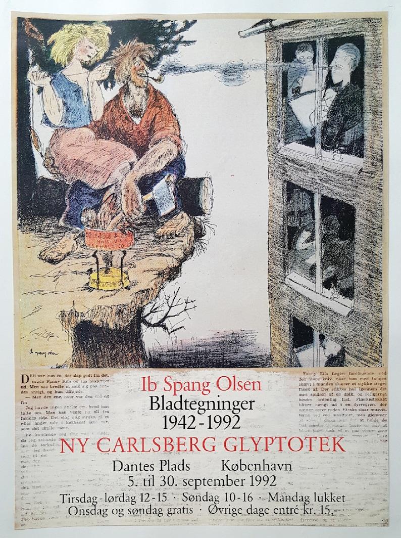 1992 Ib Spang Olsen Art Exhibition Copenhagen - Original Vintage Poster