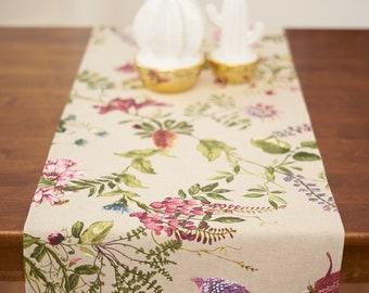 Modern Floral Table Runner Table Cloth Autumn Table Runner 13x86 Floral Table Runner