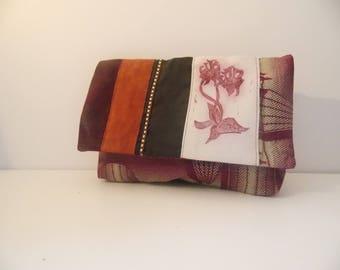 Wax print fabric pouch