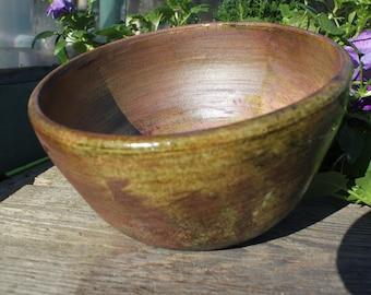Copper Penny Lustre Raku Bowl