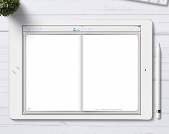 Digital Bullet Journal with Dotted Grid pages for GoodNotes App, Digital Bujo with hyperlinks, iPad Pro Digital Journal
