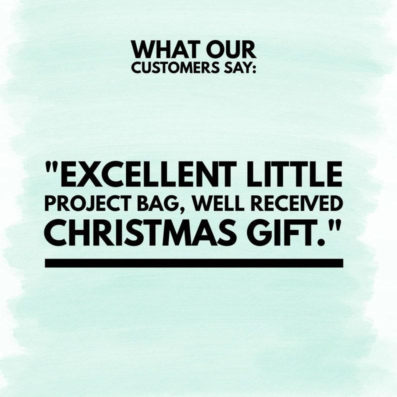 Project bag Crochet Gifts Crochet Accessories Crochet Drawstring Bag