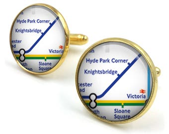 Subway Map Cufflinks.Tube Cufflinks Etsy