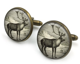 1d5caa29a880 Stag Cufflinks, Deer, Hunting, Gifts For Him, Cuff Links, Wedding Cufflinks,  Vintage, Woodland Cufflinks 5