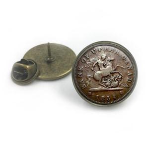 Vintage Münze Revers Krawatte Pin Abzeichen Vintage Münzen