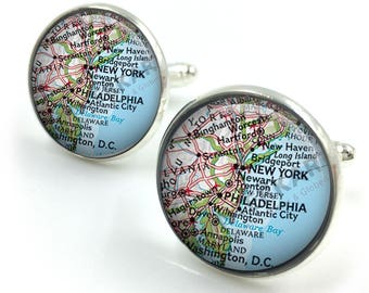 Personalised Map Cufflinks For Will