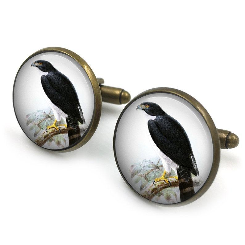 69a1e6021019 Kestrel Cufflinks Kestrel Bird Of Prey Gift for Him Gift | Etsy