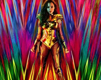 "2017 Movie Silk Fabric Poster  Gal Gadot 11/""x17/"" 24/""x36/"" Wonder Woman"