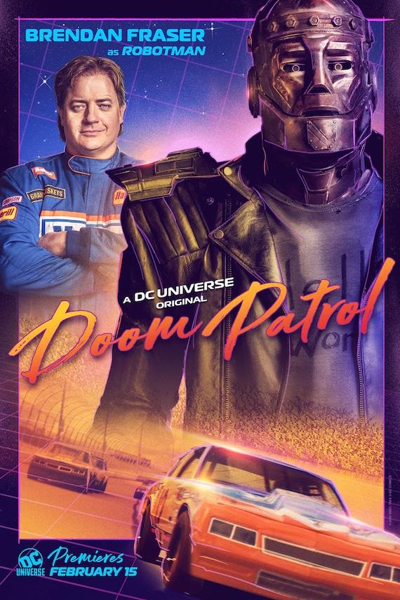 Doom Patrol Dc Tv Series Robotman Character Poster Diane Etsy