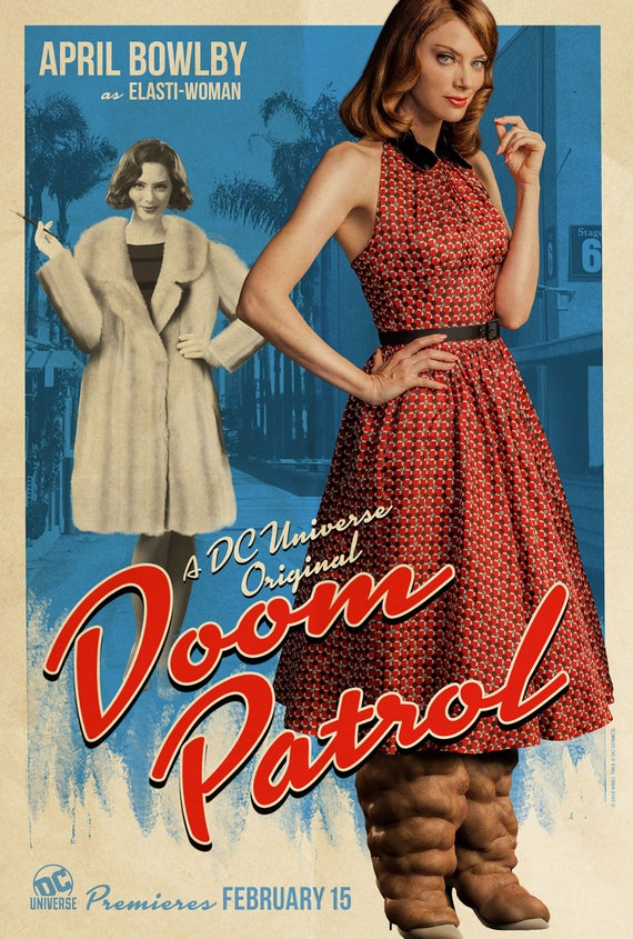 Doom Patrol Dc Tv Series Elasti Woman Character Poster Diane Etsy