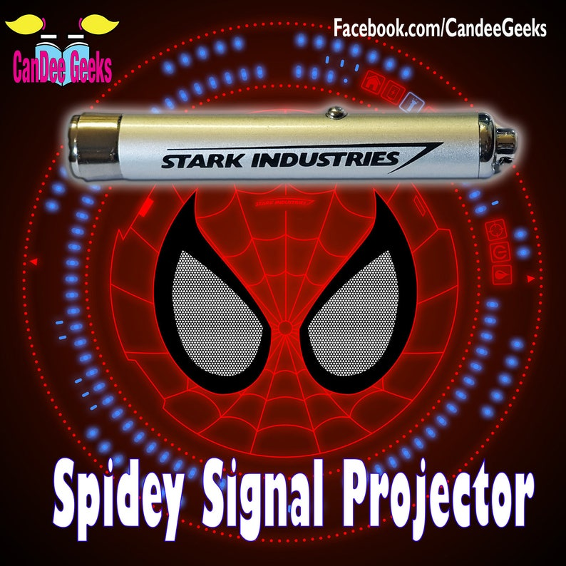 Spiderman webshooter signal projector torch keyring image 0
