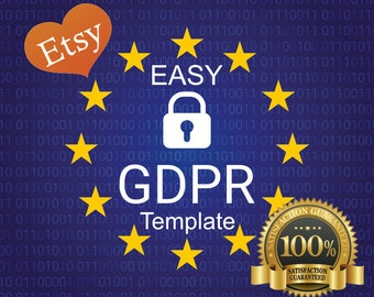 GDPR Compliant Privacy Policy for Etsy Sellers | INSTALL In SECONDS | Template in Word, Pages, Txt format