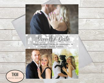 Wedding Save The Date, Photo Save The Date, Custom Save The Date, Save The Date Cards, Wedding Printables, Wedding Announcement