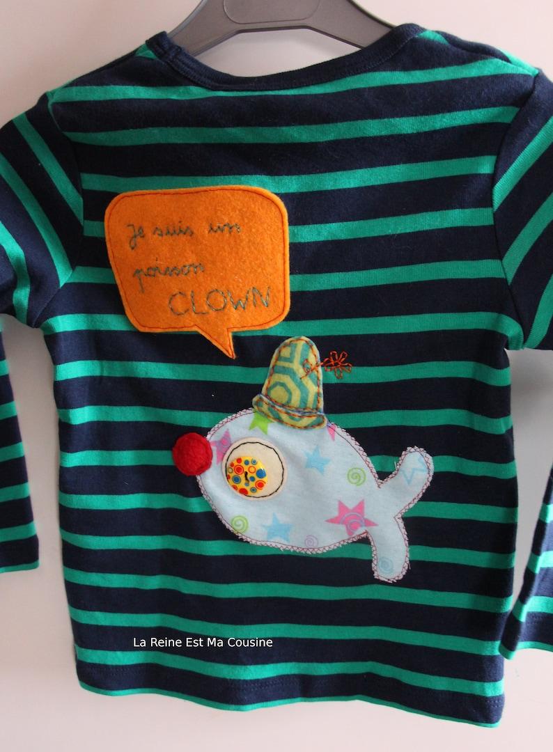 T-shirt clown fish, April 1, fish back, 1 1/2 / 2 years