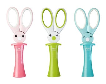 Cute Rabbit Shaped Scissors - Pink Green Blue