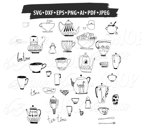 Print or more Cut files Coffee Cup Monogram Digital clipart for Design Instant files download svg png dxf Coffee Cup svg