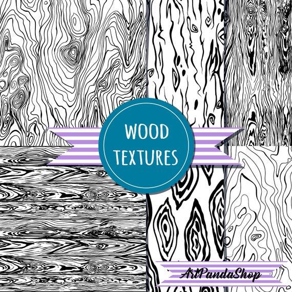 Wood Grain Pattern Woodland Theme Wood Digital Paper Wood Etsy