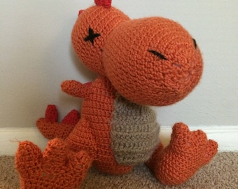 Crocheted Plush Dinosaur