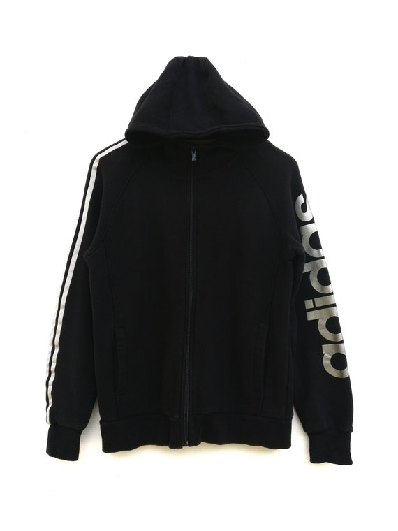 Vintage Adidas Black Zip Up Hoodie
