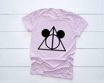 Deathly Triangle Ladies T Shirt Harry Wizard Fan Design Idea