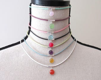Create Your Own Leather Choker With Quartz Crystal Charm
