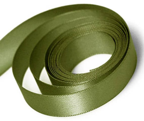 "MOSS GREEN BY THE YARD 1-1//2/"" WIDE SWISS DOUBLE FACE SATIN RIBBON"