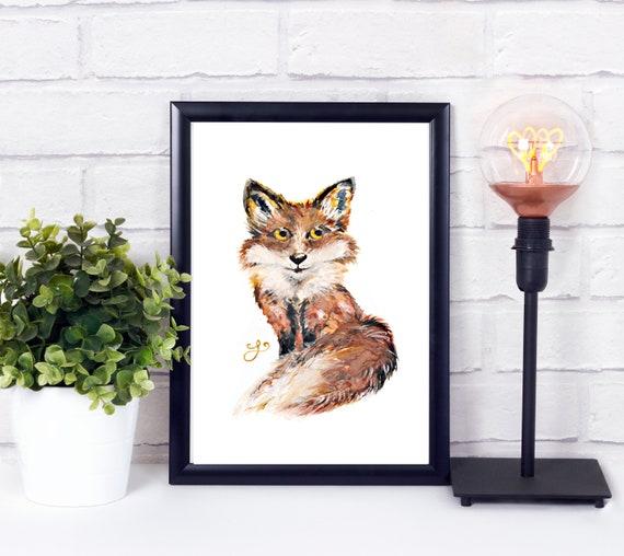 Hand Painted Fox Art
