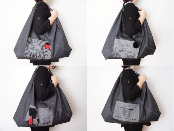 sac de type fourre tout cadeau pour femme original etsy. Black Bedroom Furniture Sets. Home Design Ideas