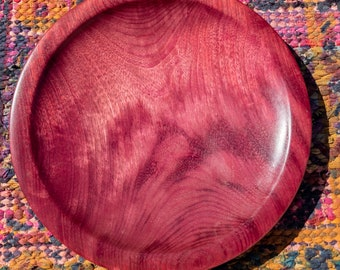 Exotic Wood Turned Platter from Purple Heart *Made in USA*