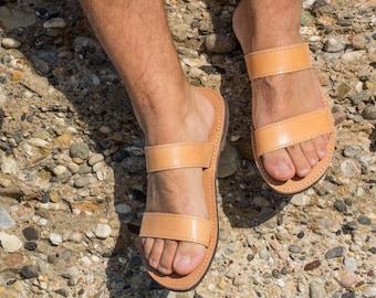 Mens leather sandals Gladiator greek sandals for men