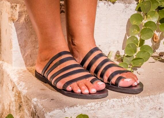 Sandales cuir grecques cuir noir Sandales Sandales en Sandales en Xx5q44