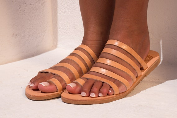 394ae2b5199f5 Woman sandals Toe ring sandals Greek leather sandals Ancient greek sandals  Strappy sandals Handmade sandals Leather slides YDRIA