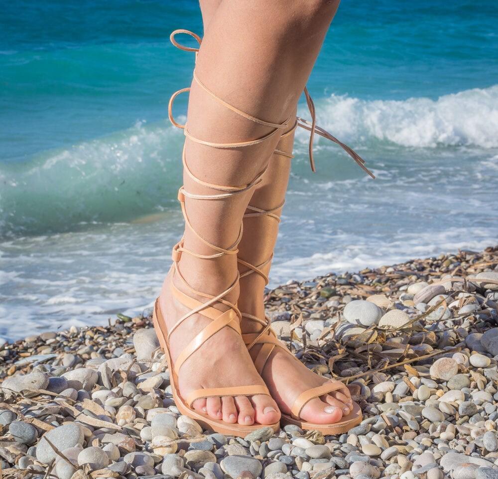 0f45702b57d78d Lace Up Sandals   Tie Up sandals   Leather sandals   Greek