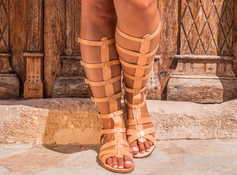 c0498c6ad4328c Leather sandal boots Women gladiator sandals Greek sandals
