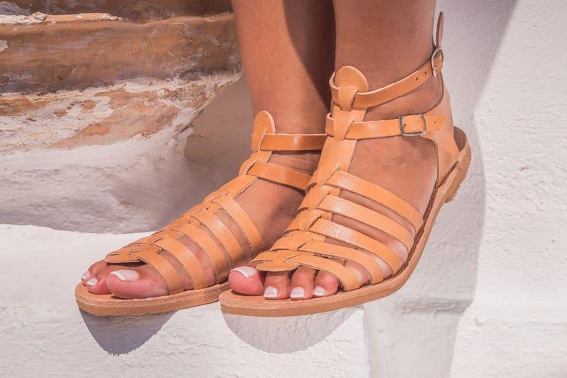 2eec1fec8dffbd Leather sandals women Gladiator sandals Greek sandals handmade