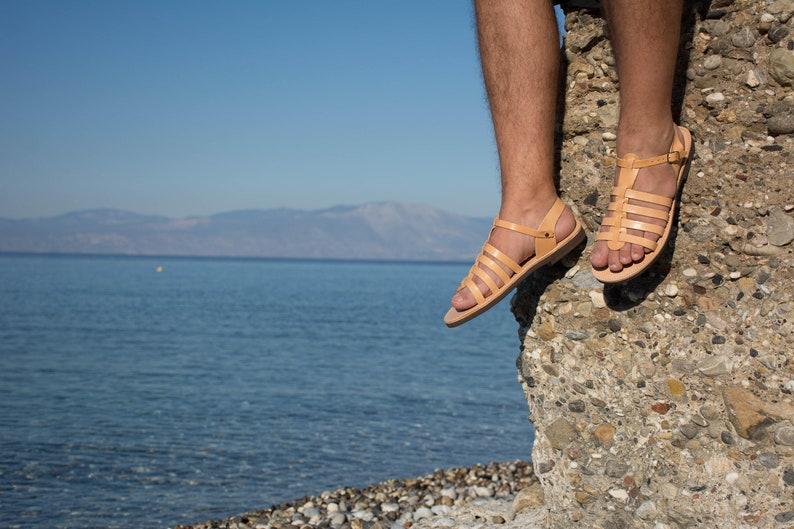 fc27df8a6f592f Gladiator sandals   Men leather sandals   Greek sandals