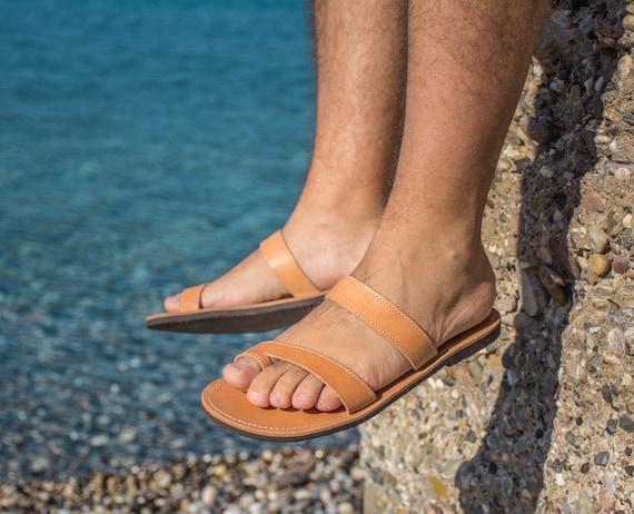 Ithakia hommes Gladiator pour cuir sandales grecques Sandales hommes toe ring en pour qRgxSZ